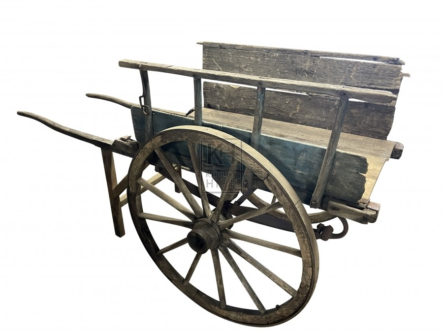Faded Blue Hand Cart