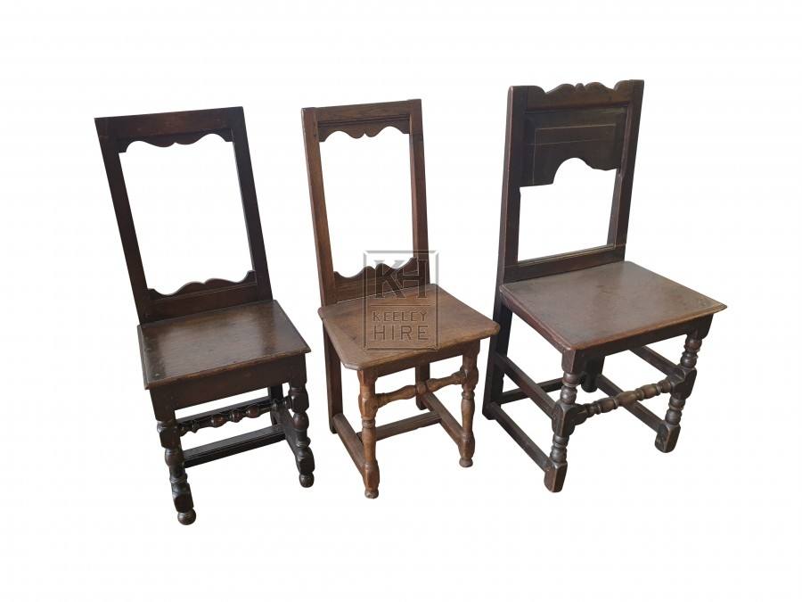Medium polished wood chairs