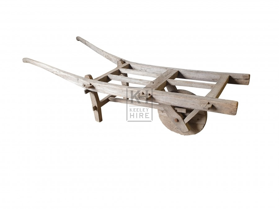 Light wood wheelbarrow
