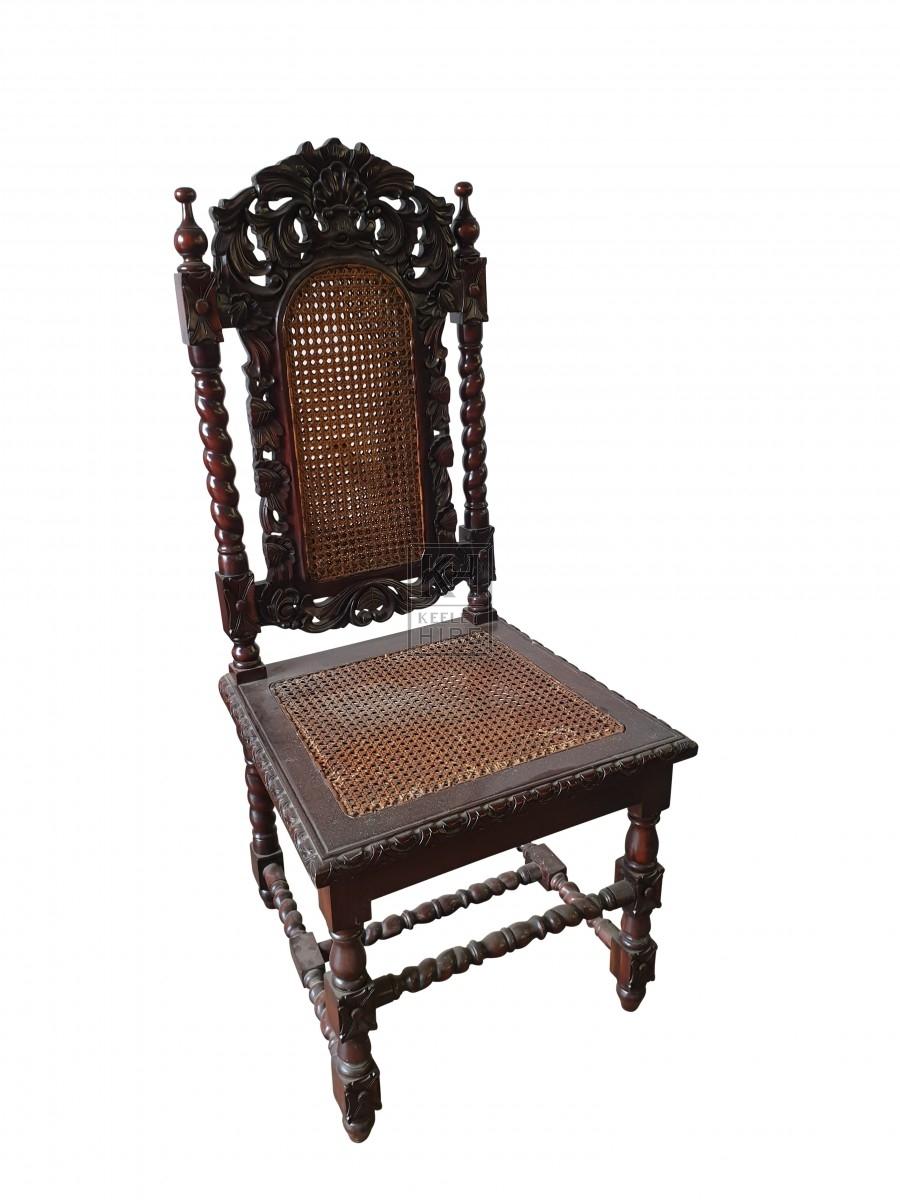 Mahogany 17th C style chair