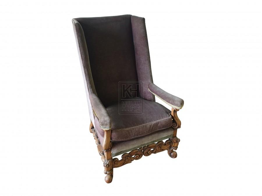 Early 20th Century Carolean armchair