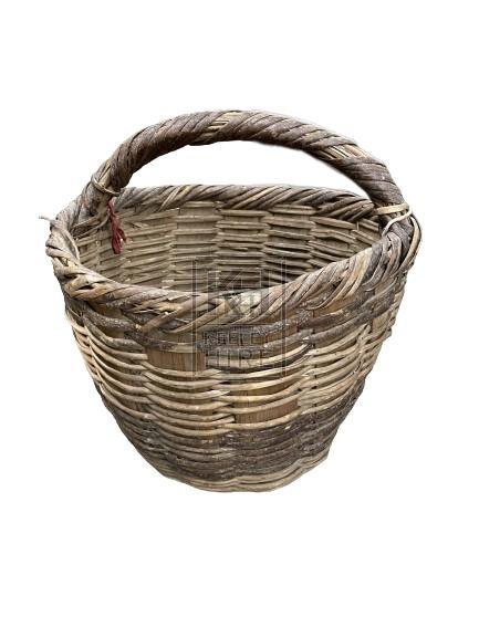 Bark Basket with Handle