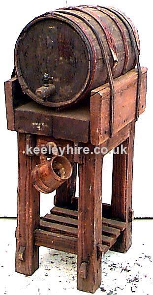 Single barrel on wood stand
