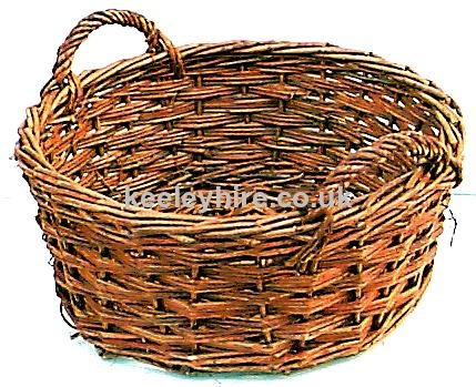 Short 2-handle wicker basket