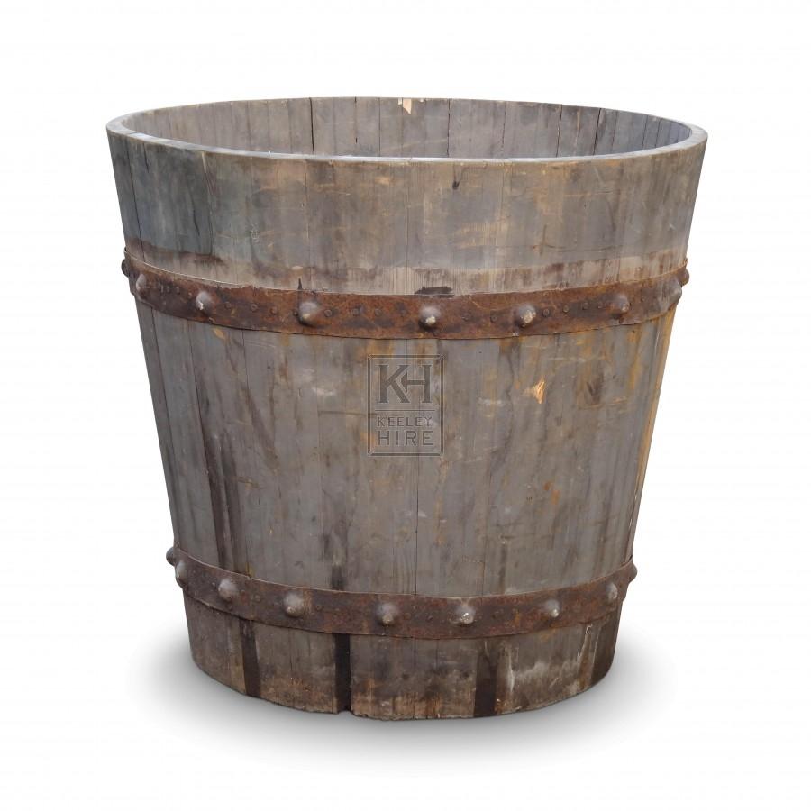 Large Iron Bound Bath Tub
