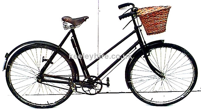 30s 40s Ladies bicycle with basket