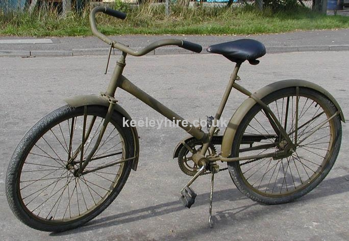 Military WWII Paratroopers bicycle