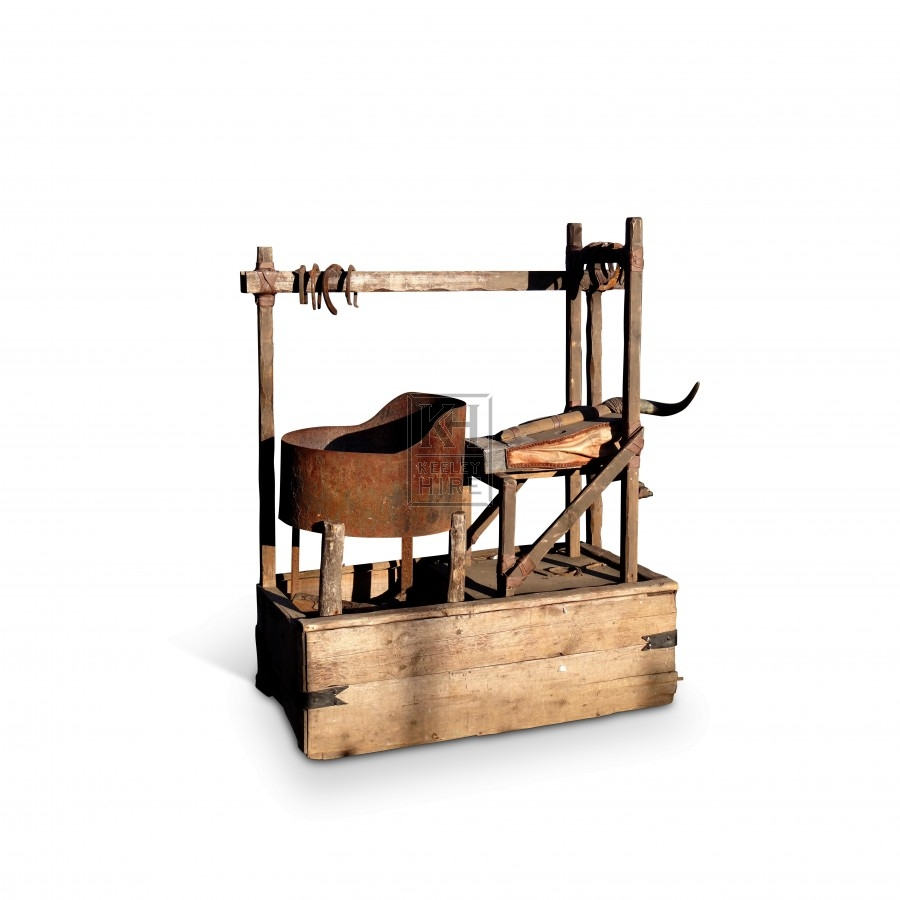 Blacksmiths Forge with Bellows and Rack