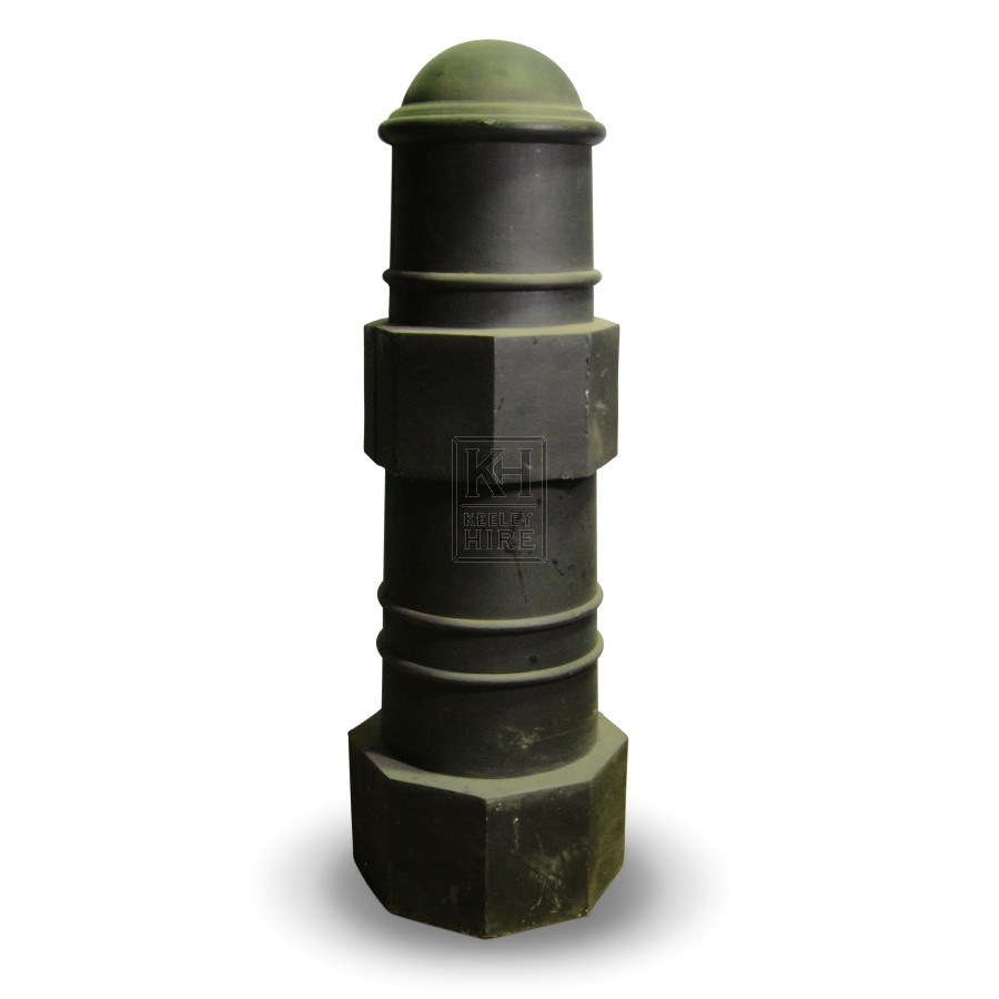 Large rounded top bollard