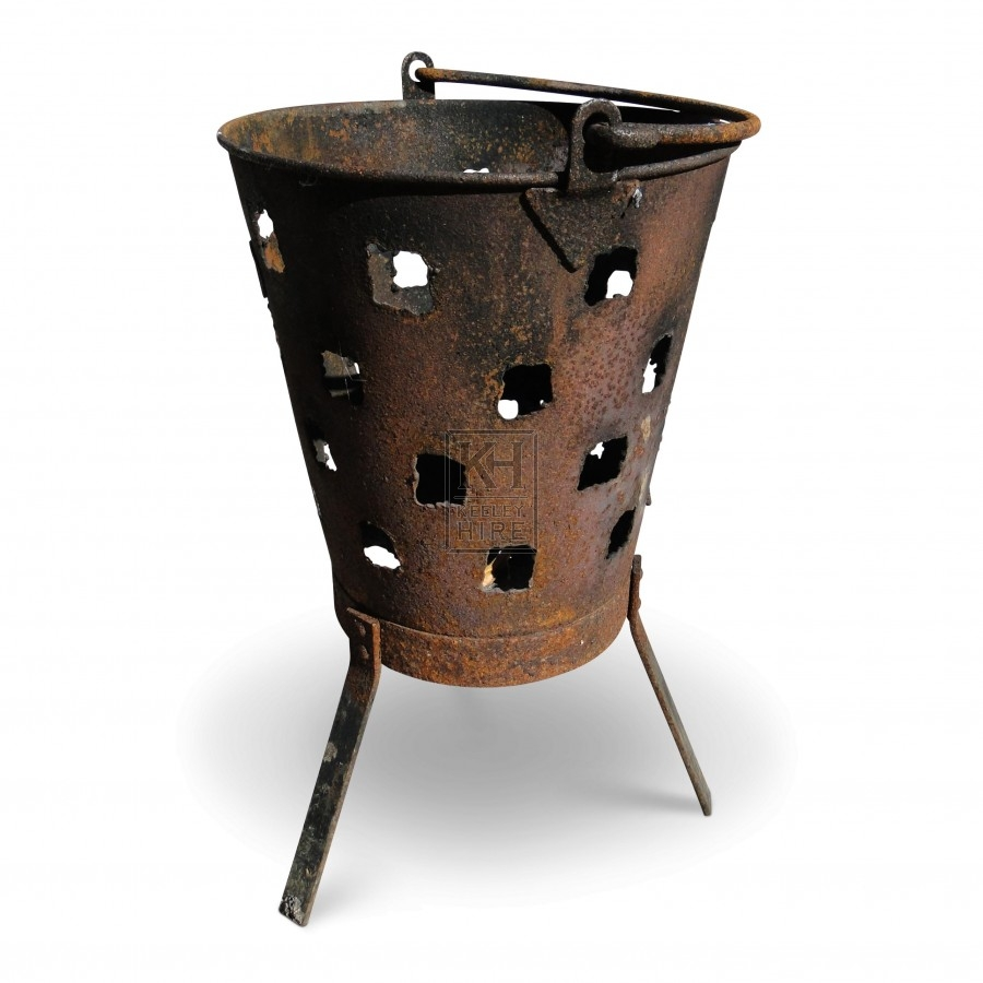 Bucket Brazier with Holes