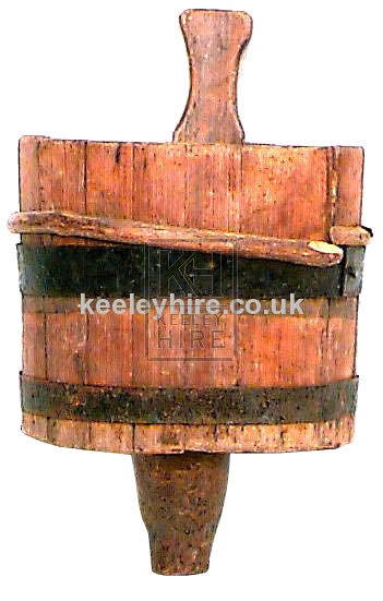 Bucket with Wooden Handle