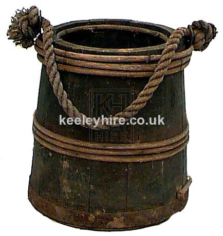 Wood and Iron Bound Bucket