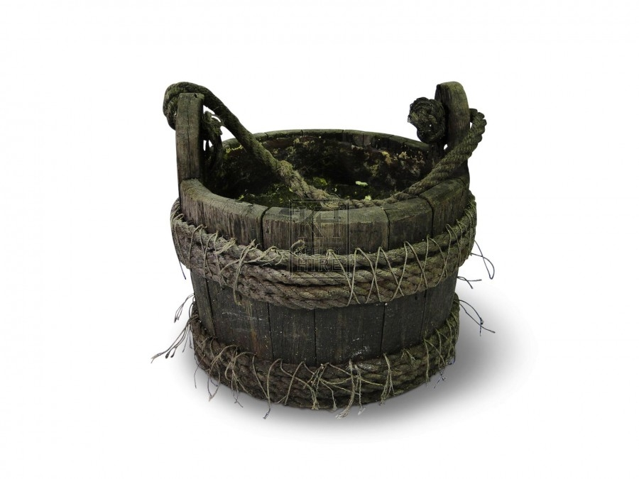 Rope Bound Bucket with Rope Handle #1