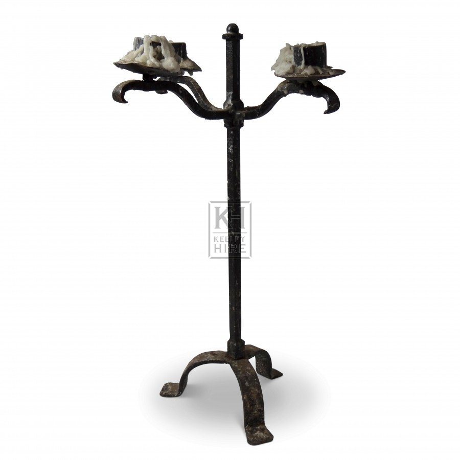 4 Point Iron Table Candelabra
