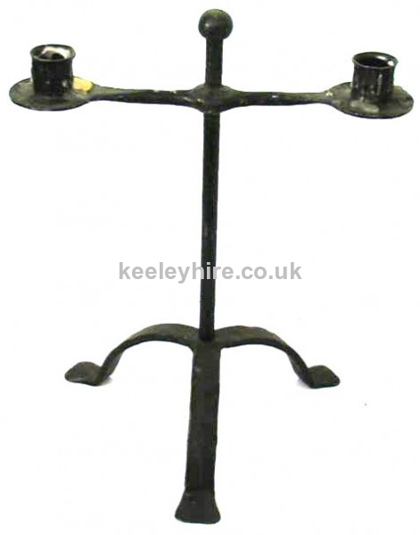 2 Point Candleholder with Ball Centre