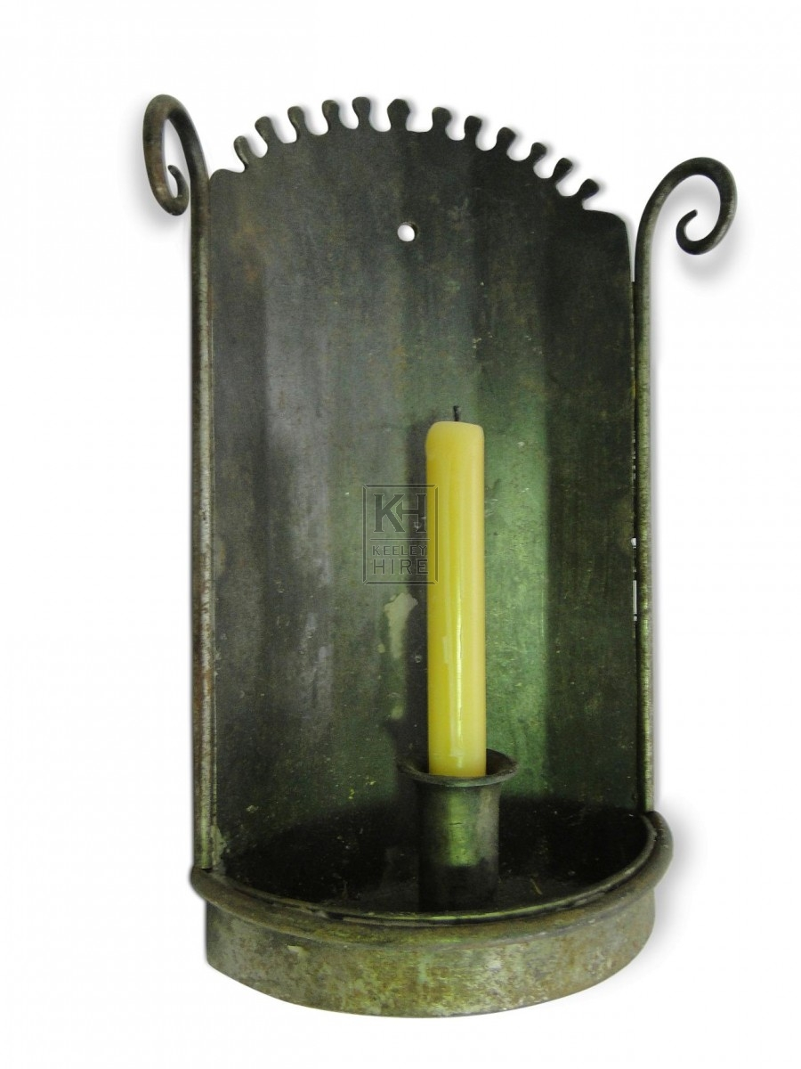Single Iron Wall Candleholder #2