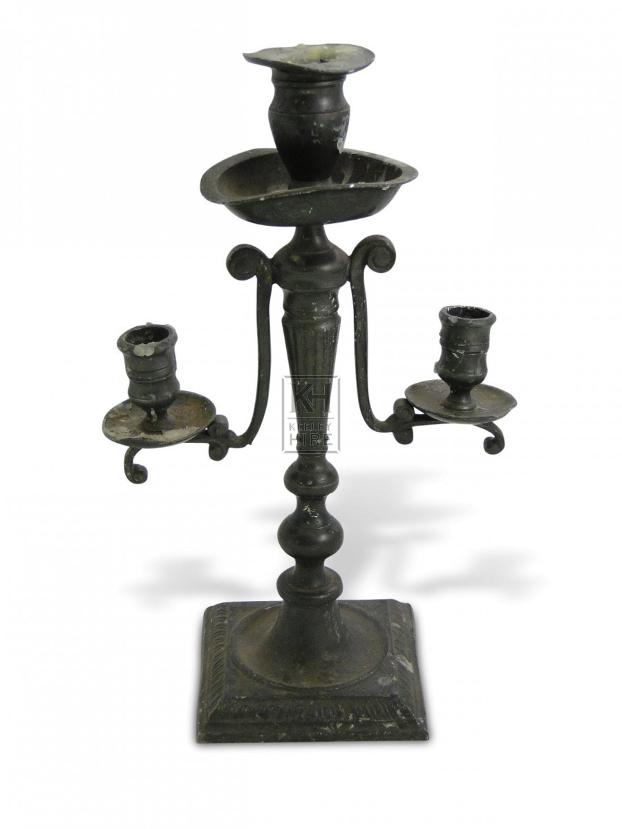 Pewter Candleabra #1