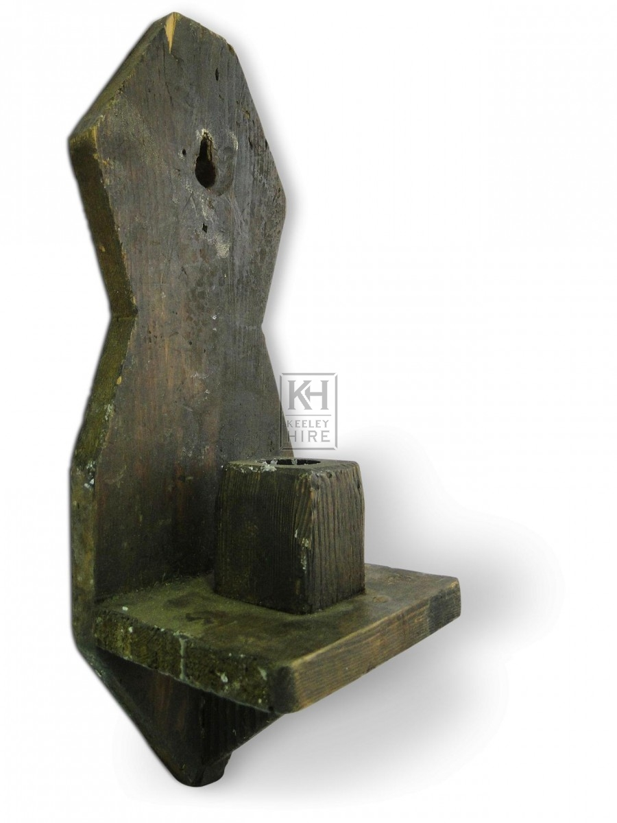 Wall Mounted Wood Candleholder #3