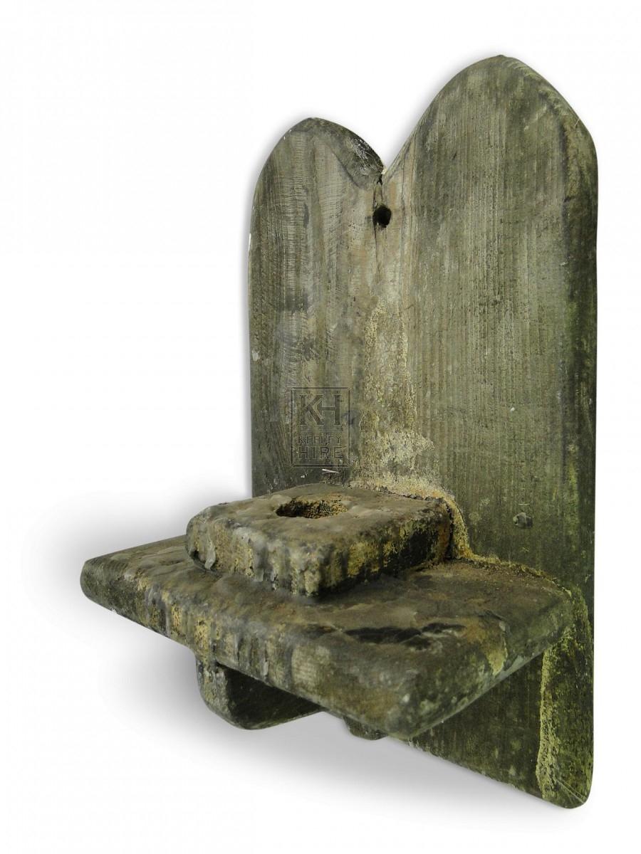 Wall Mounted Wood Candleholder #5