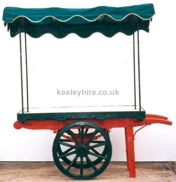 Small 2-wheel handcart with canopy