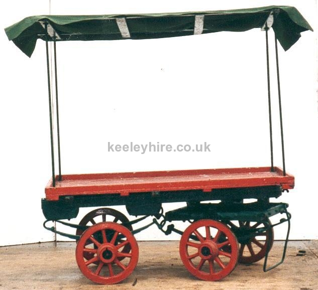 4-wheel market stall with small wheels