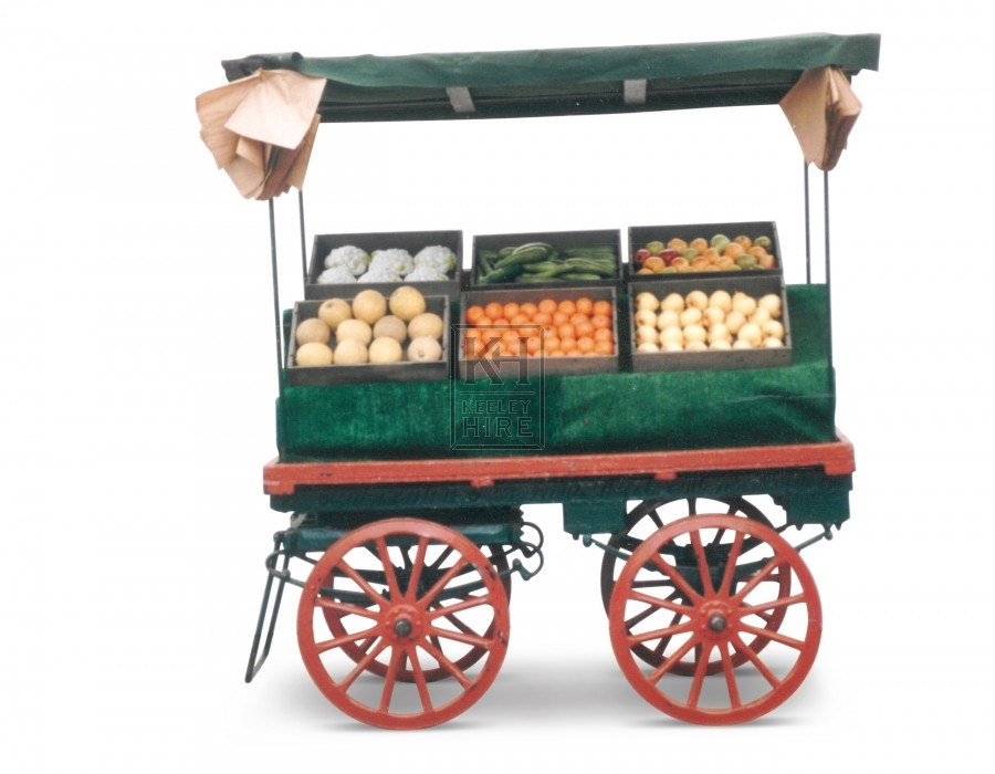 4-wheel market stall with large wheels