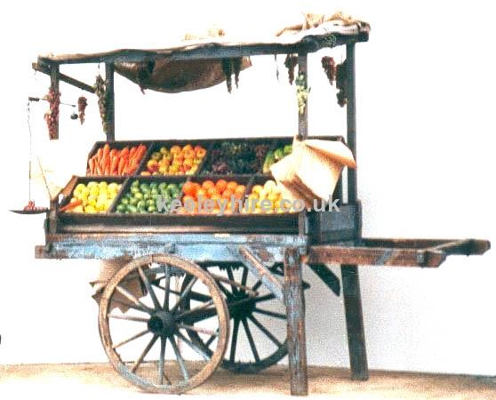2-wheel handcart with uprights & top
