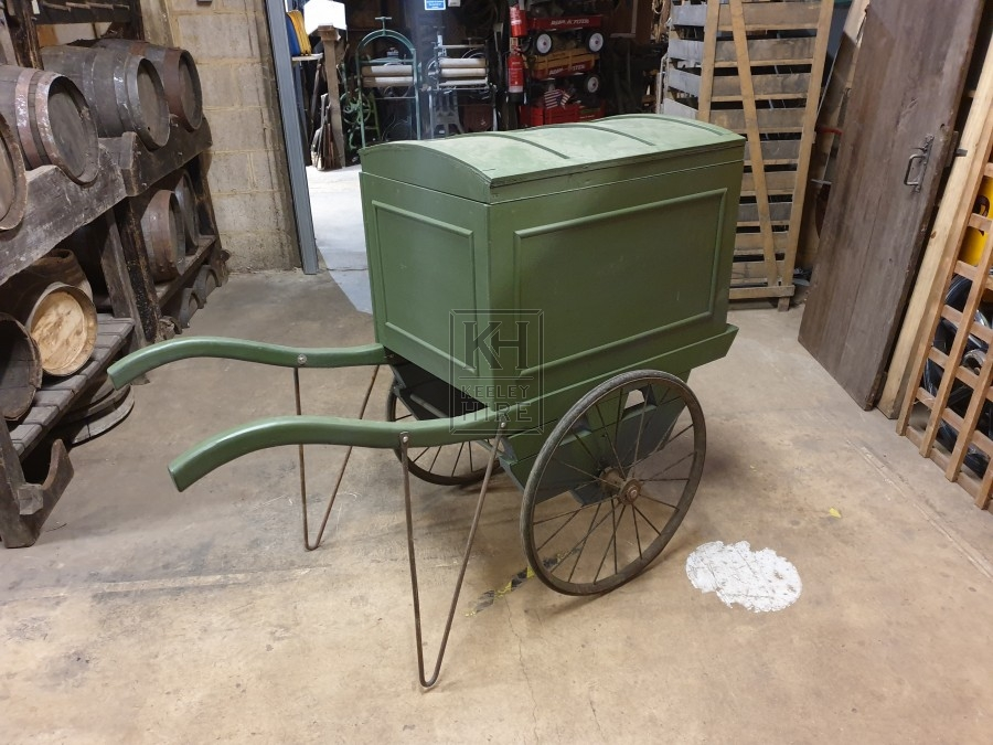 Blue Hand Cart With 2 Metal Wheels