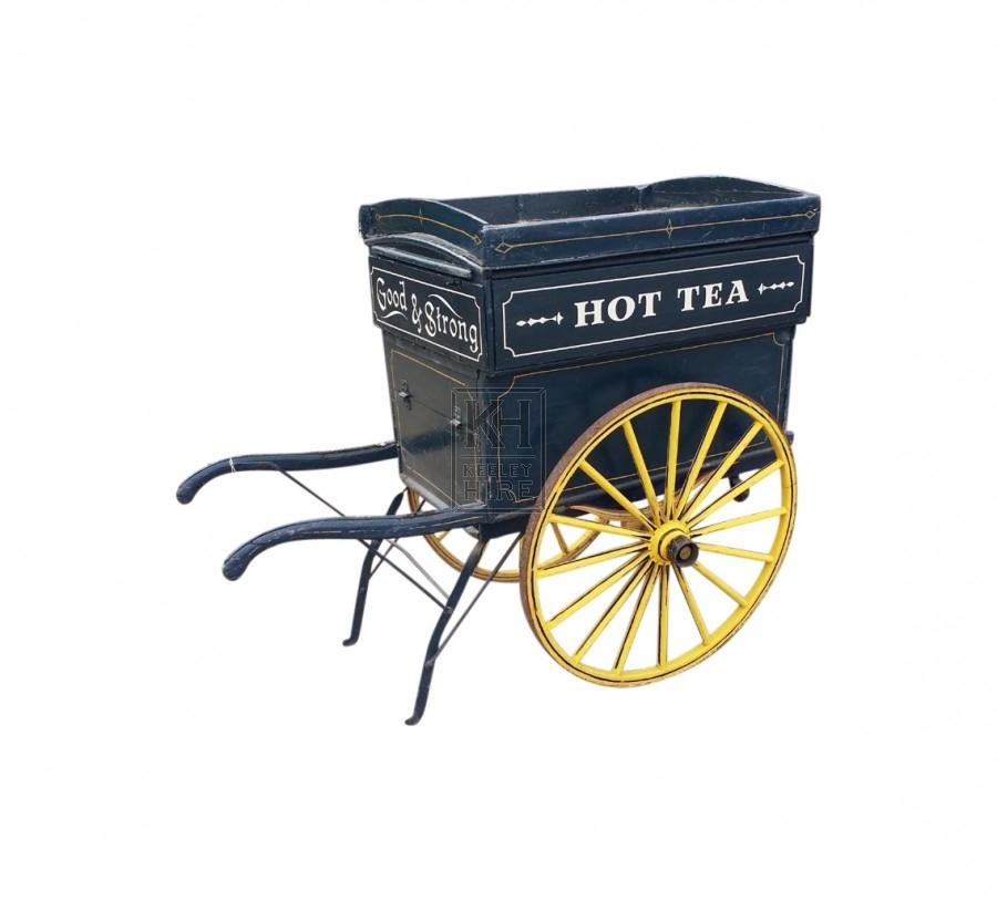Blue Liptons Hand Cart