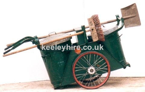 Green Road sweepers cart