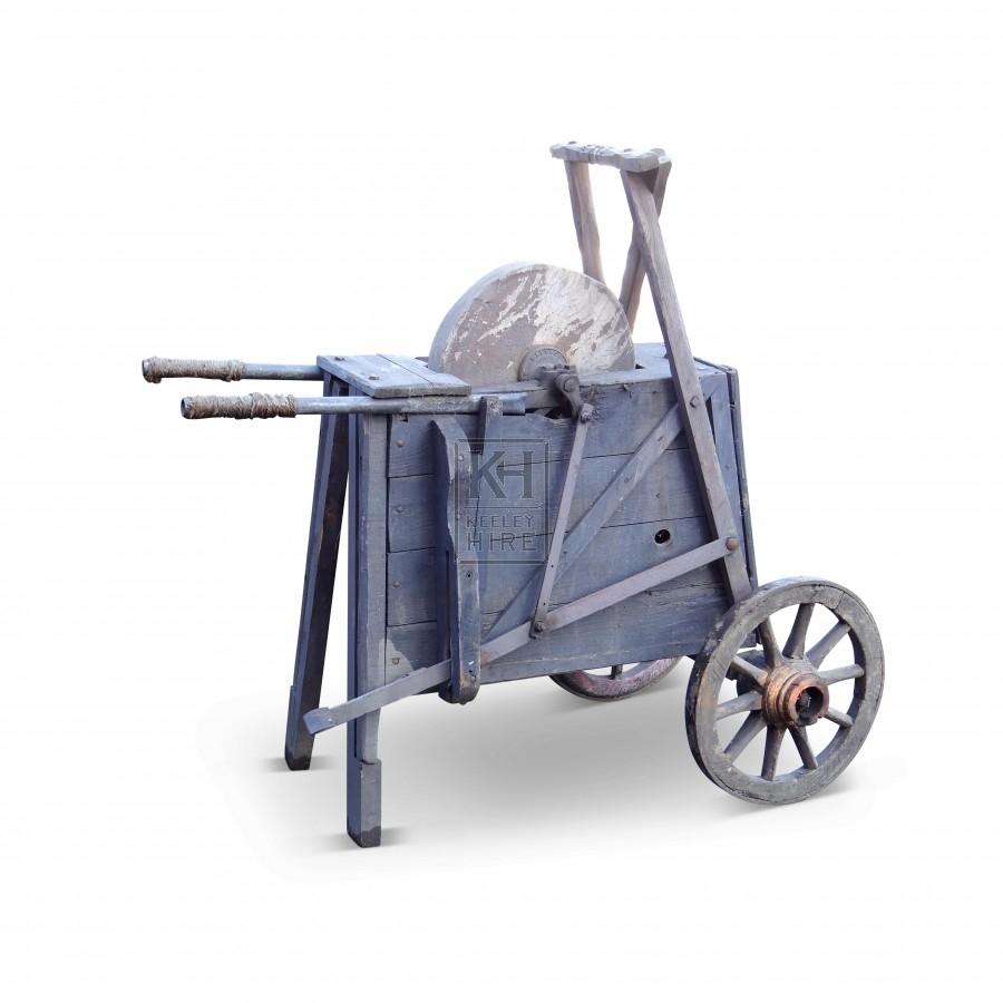 Grey Knife Grinders Cart