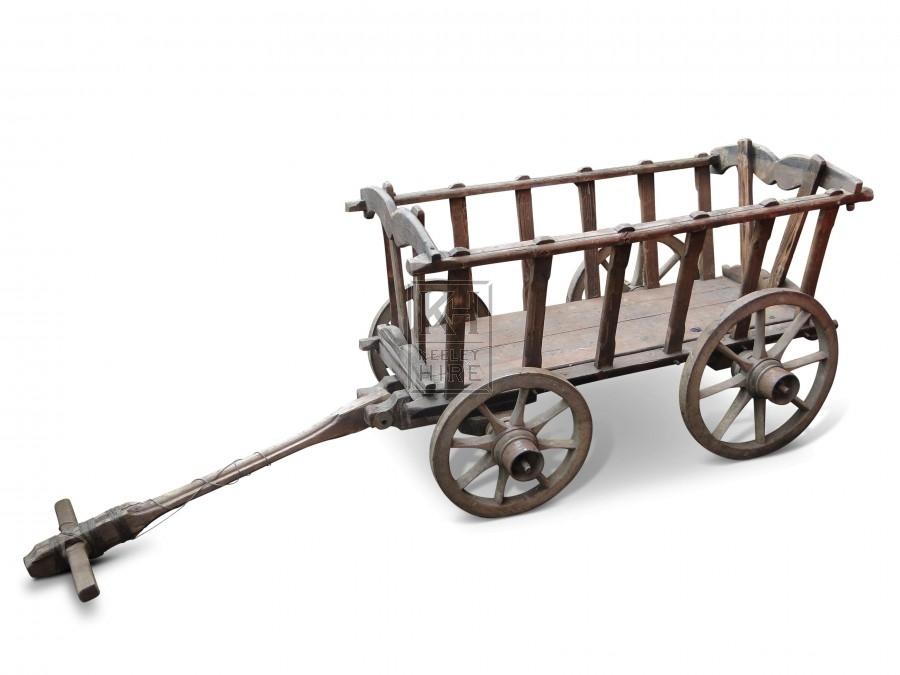 Small Wood Dog Cart