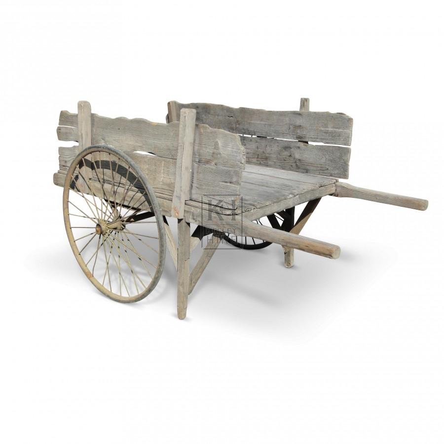 2-spoke wheel handcart with sides