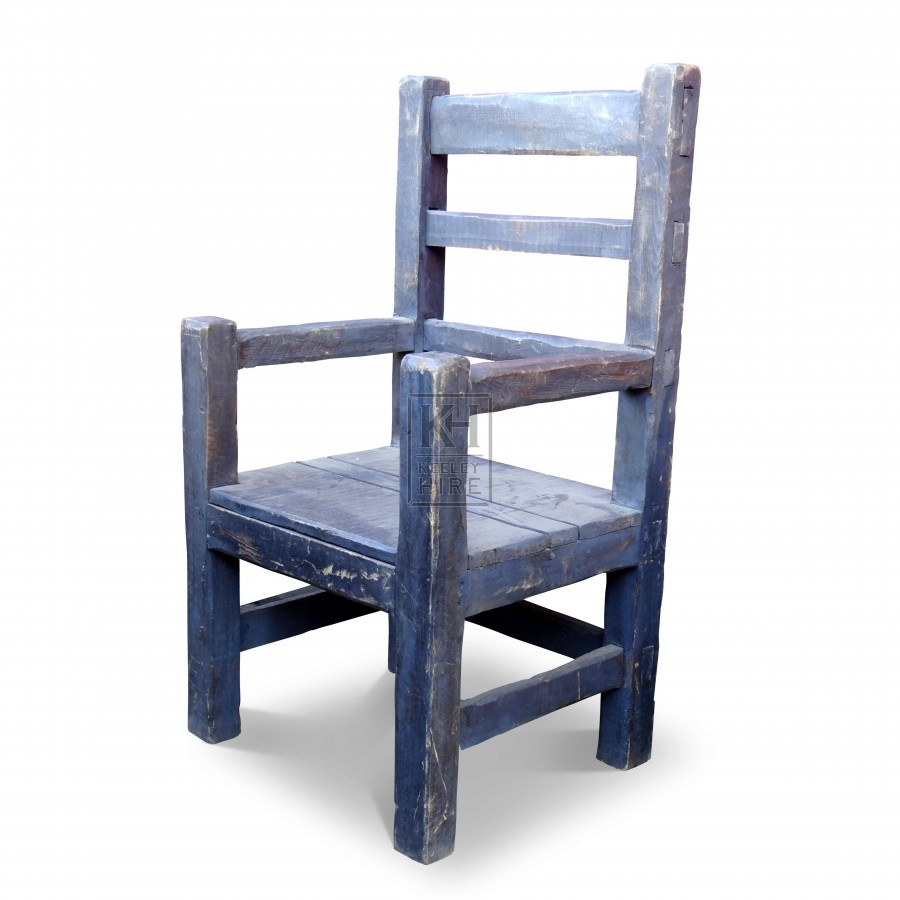 Rough Grey Wood  Arm Chair