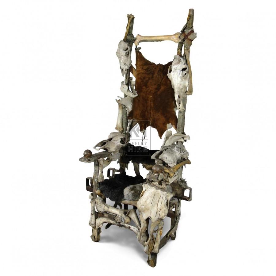 Skull Throne Arm Chair