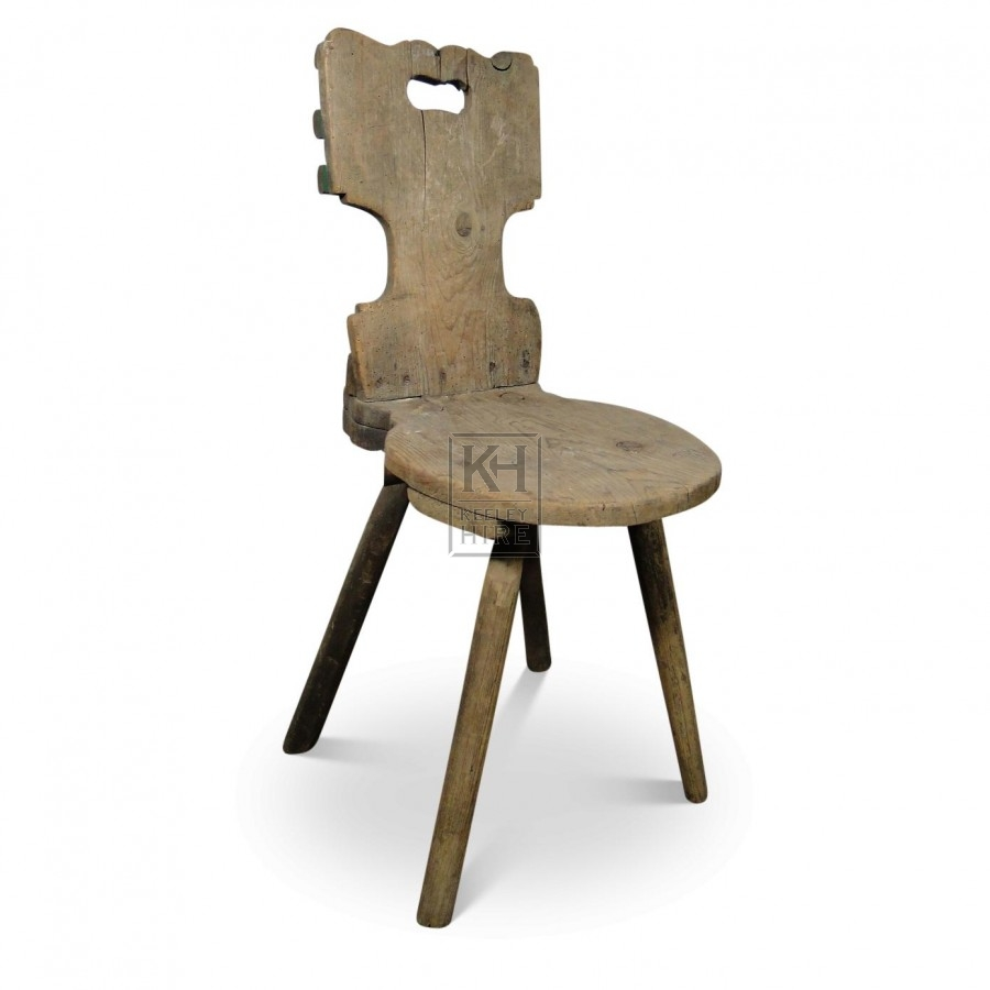 Small Rough Wood Chair