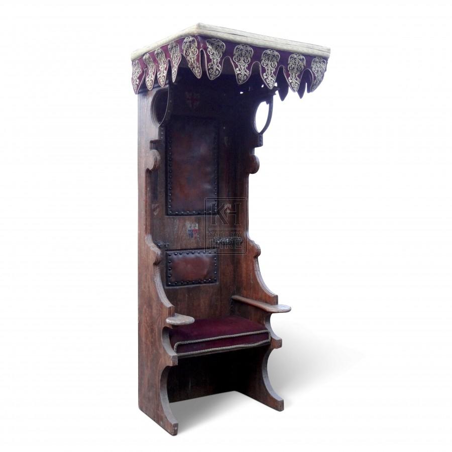 Tall Medieval Throne Chair Queen
