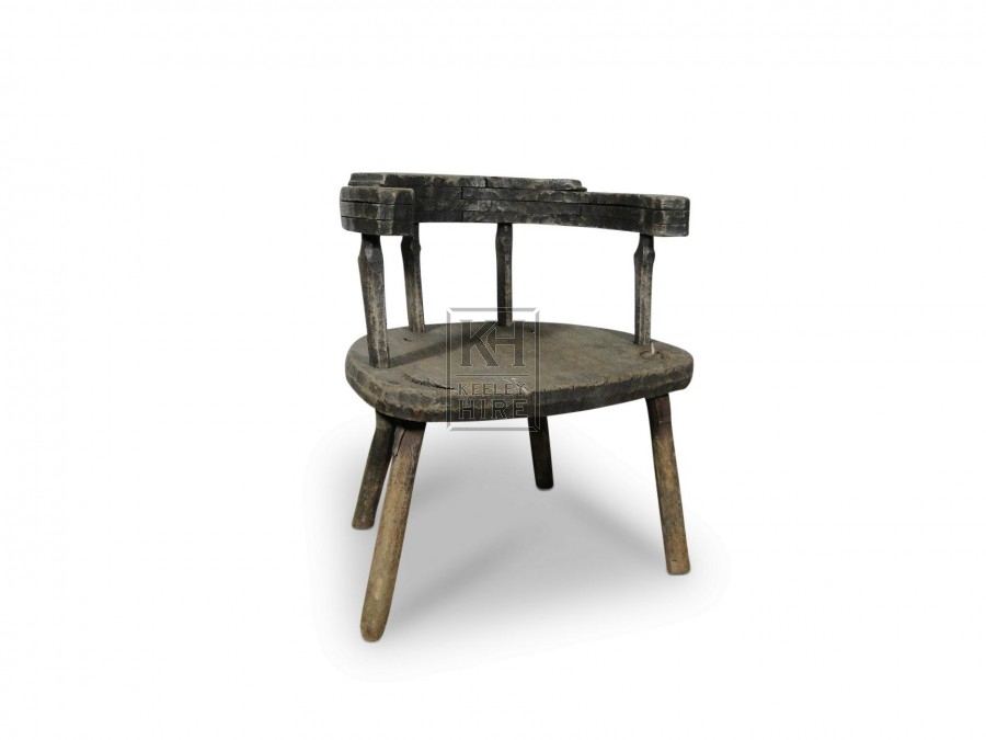 Horseshoe Backed Chair with round seat