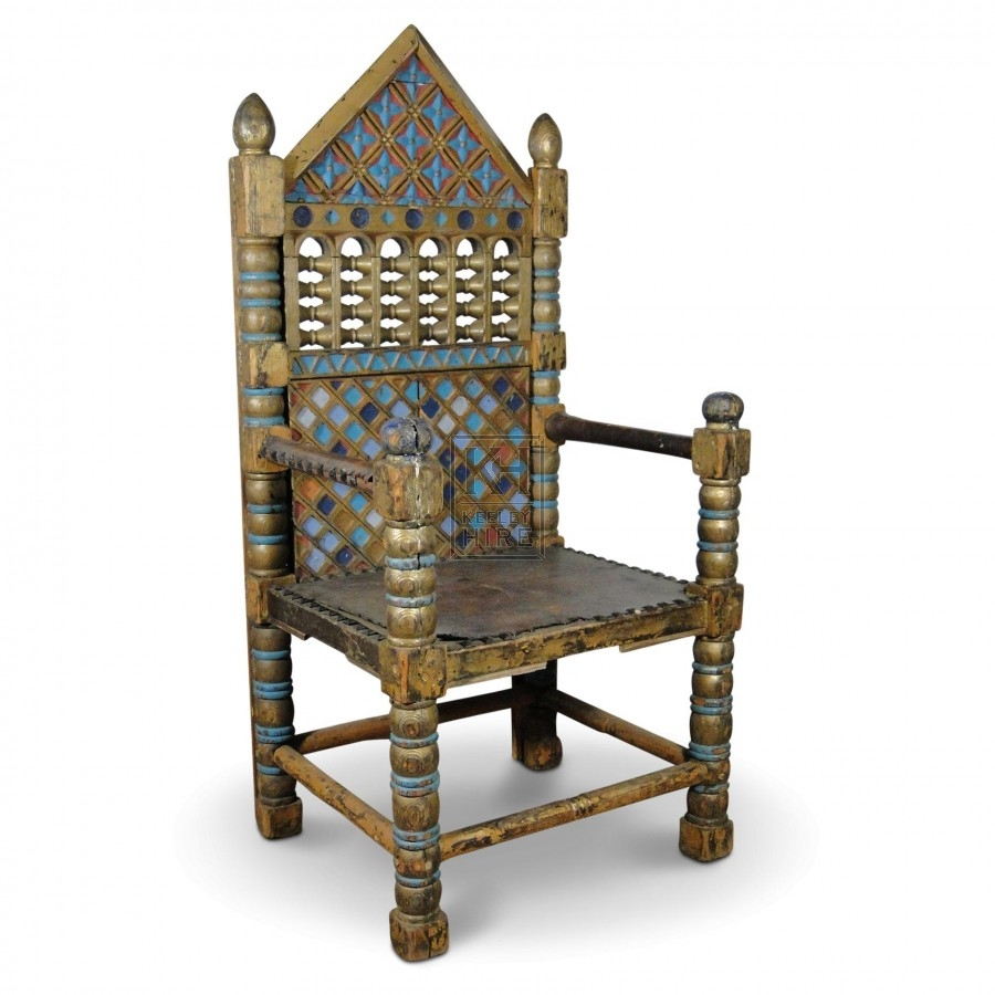 King & Queen Pointed Throne Chairs