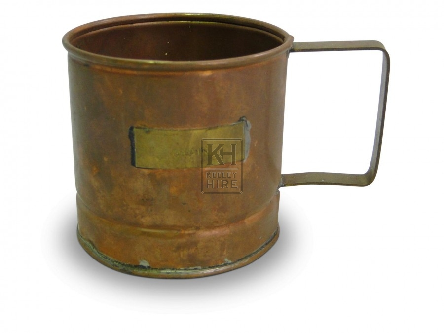 Copper Tankard with square handle