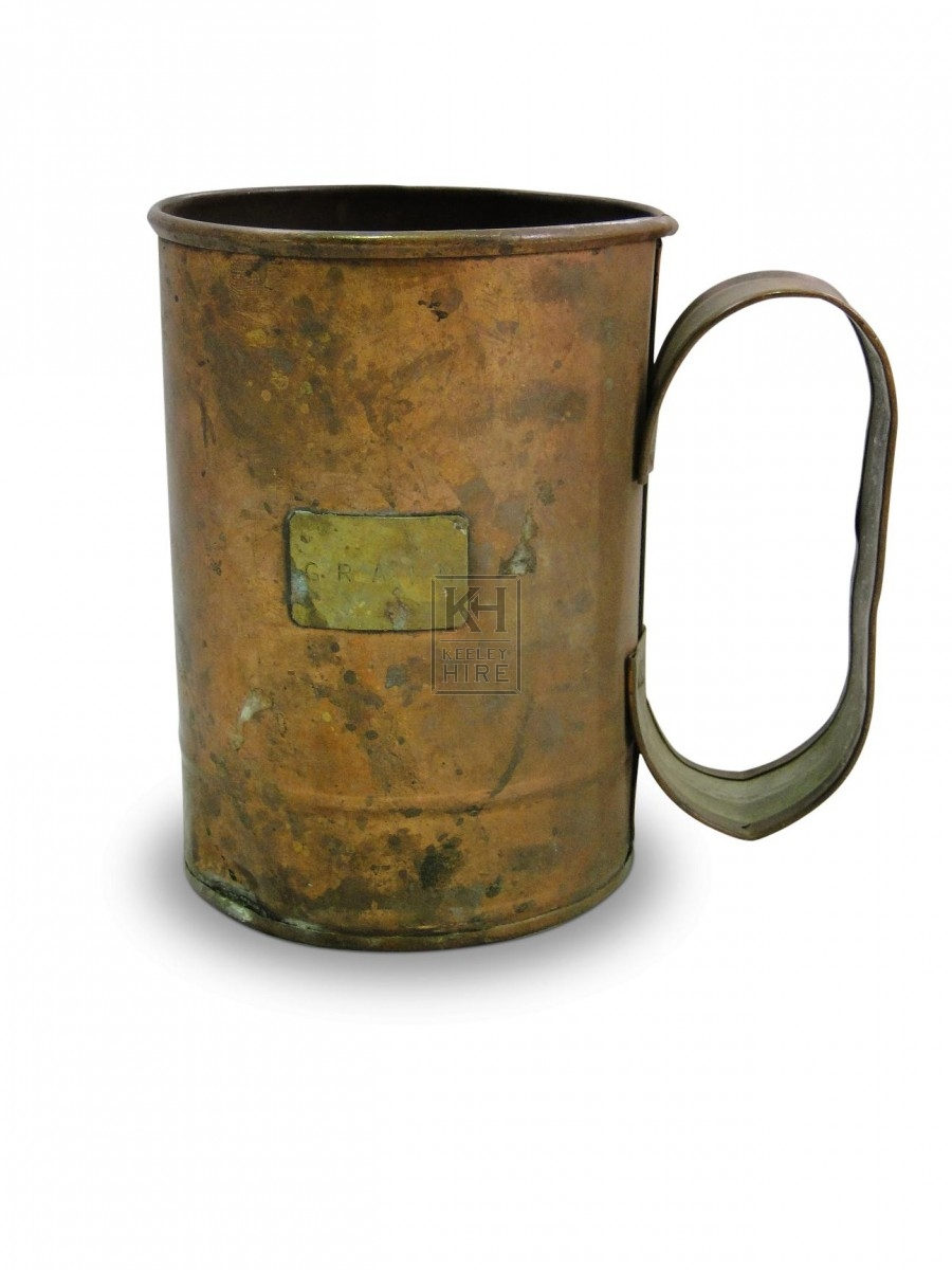 Copper Tankard with round handle