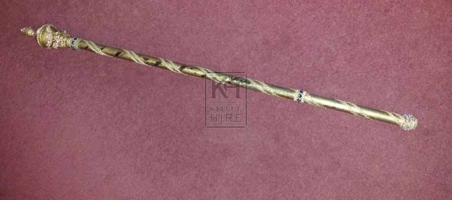 Simple gold sceptre