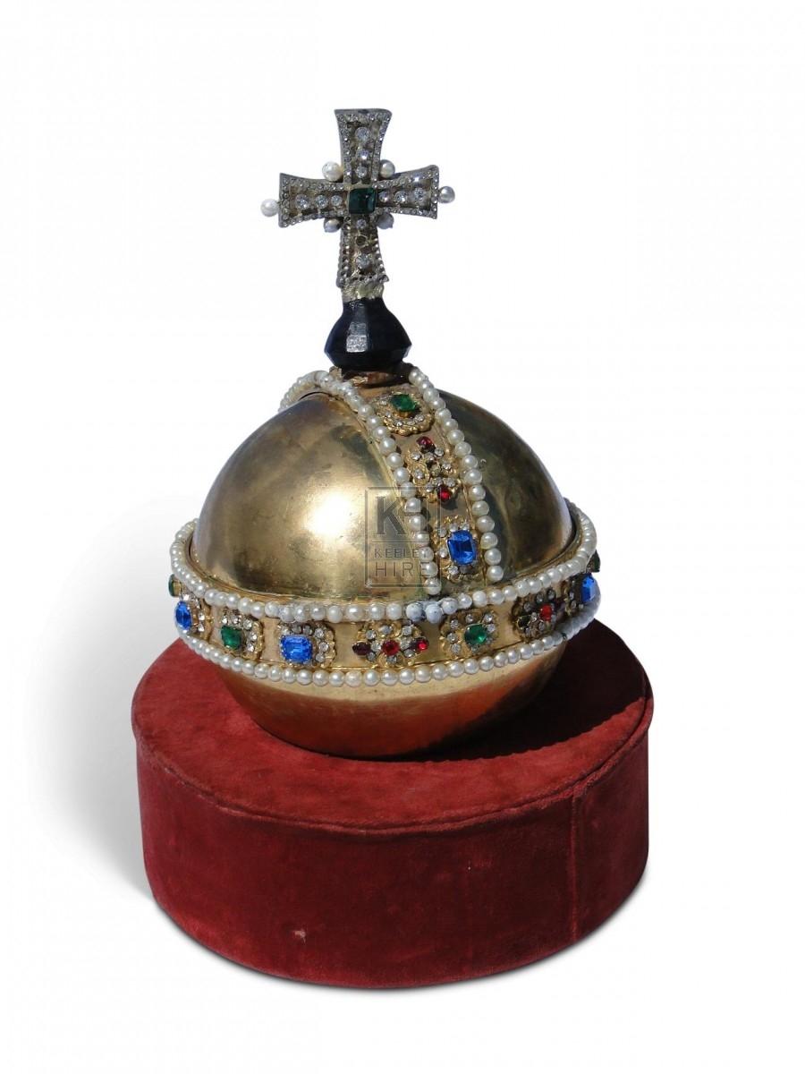 crown jewels prop hire  u00bb crown jewels - orb