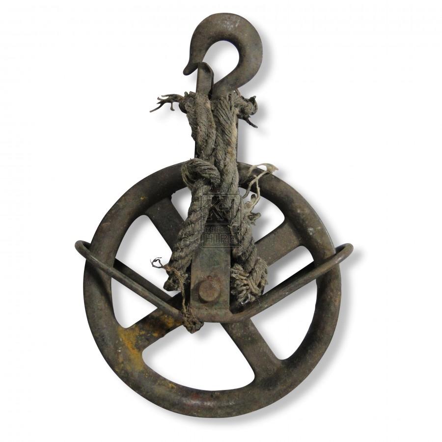 Large Iron Gin Wheel