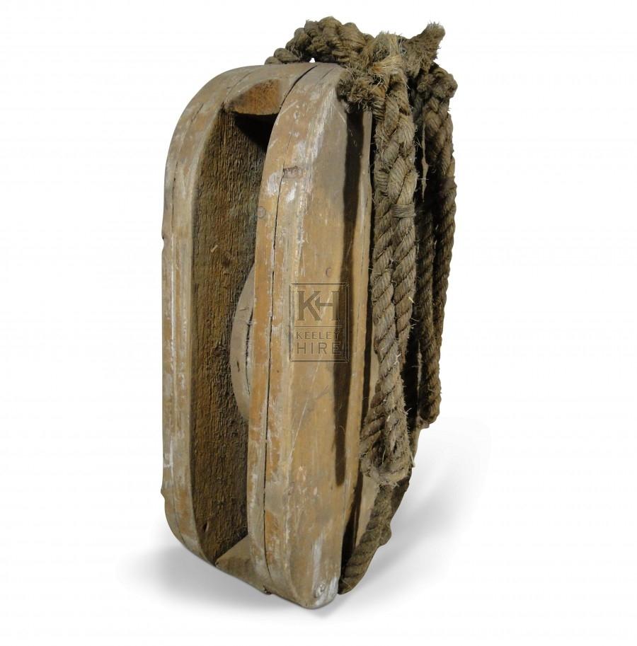 Wood Pulley Block