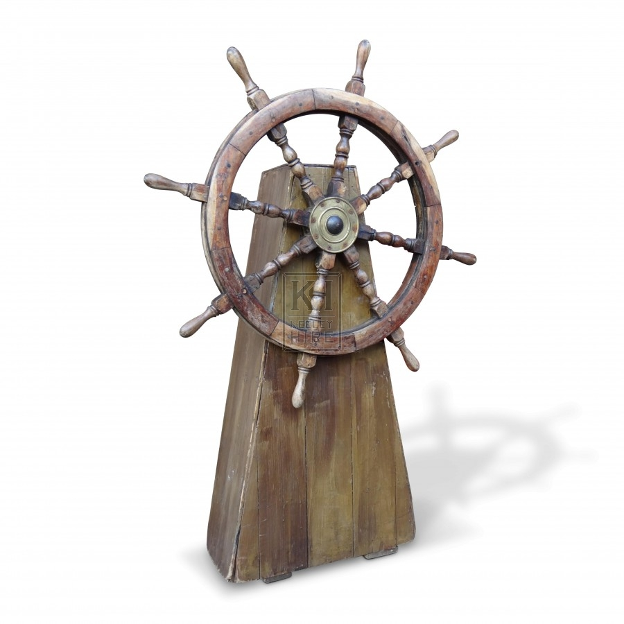 Ships Wheel On Stand