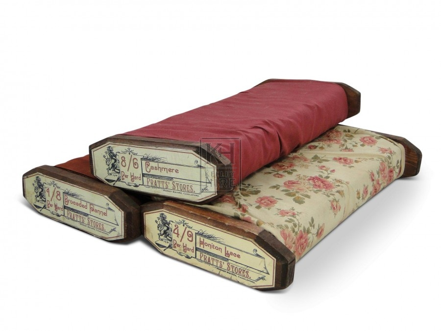 Fabric on wooden roll