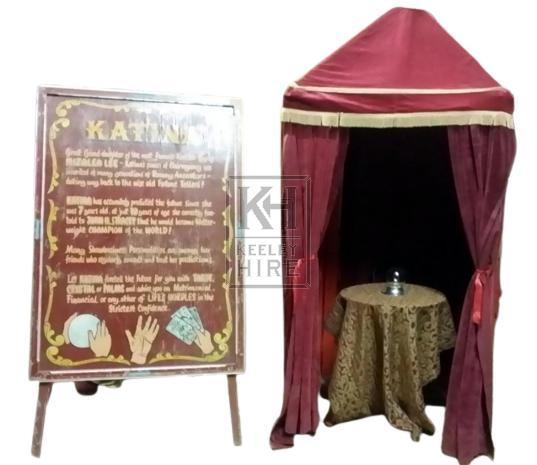 Maroon Velvet Fortune Tellers Tent