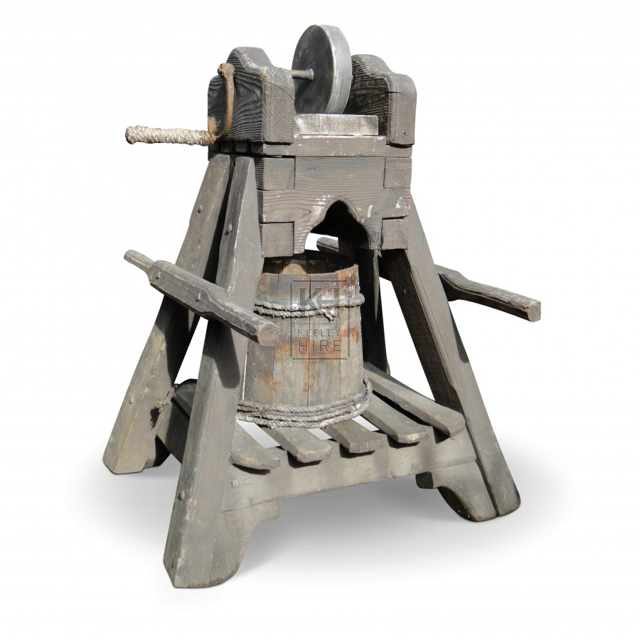 Wood Grindstone With Handles