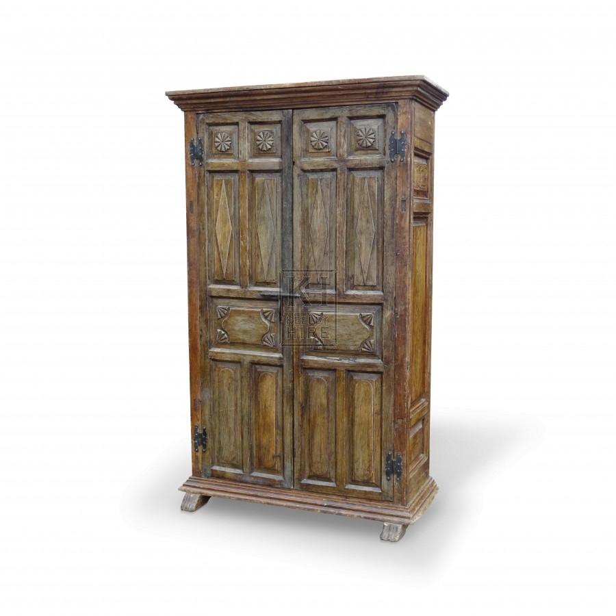 Large Dark Wood Freestanding Cupboard